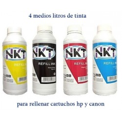 4 medios litros de tinta...